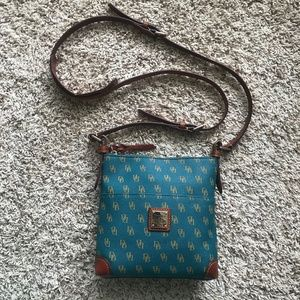 Teal Dooney & Bourke Crossbody Leather Purse